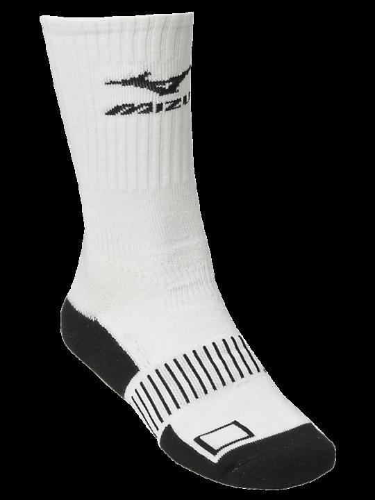 White MIZ crew sock