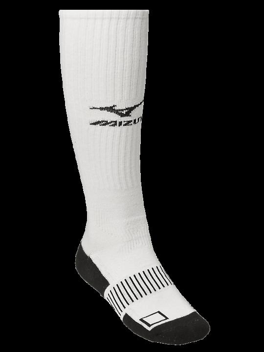 White MIZ knee hi sock