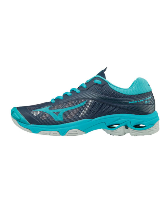 newest 84911 49b89 MIZUNO-wave-lightning-z4-aqua-navy