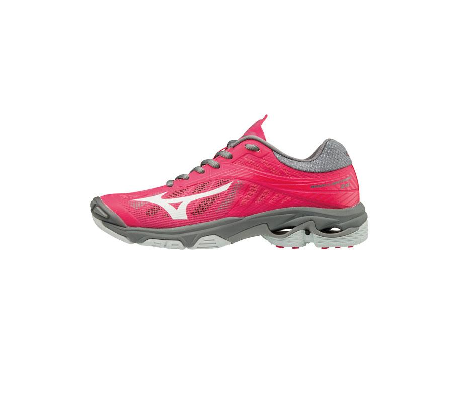 Mizuno Women/'s Wave Lightning Z4 Azalea Charcoal Volleyball Indoor Shoes